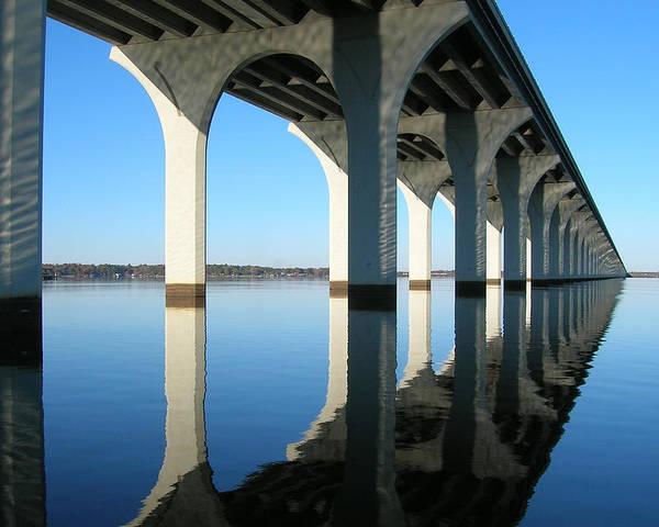 Bridge Poster featuring the photograph Cross Lake Bridge 2 by Alan Metzger