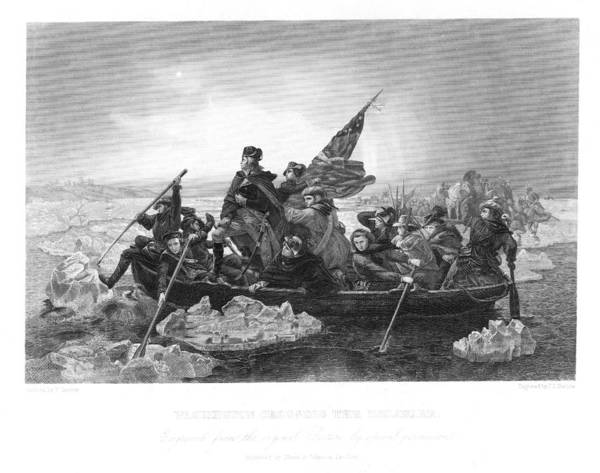 1776 Poster featuring the photograph Crossing The Delaware by Granger