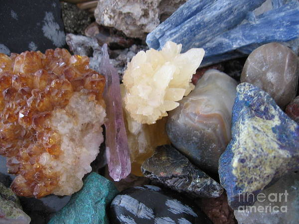 Crystals Poster featuring the photograph Crystal Energy by Patricia Januszkiewicz