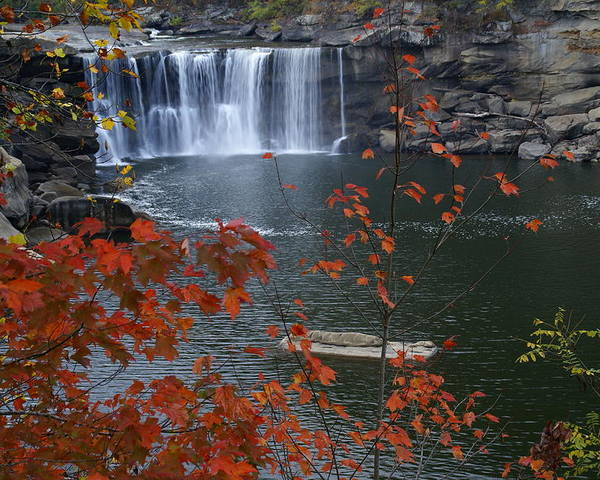 Cumberland Falls Poster featuring the photograph Cumberland Falls by Bj Hodges
