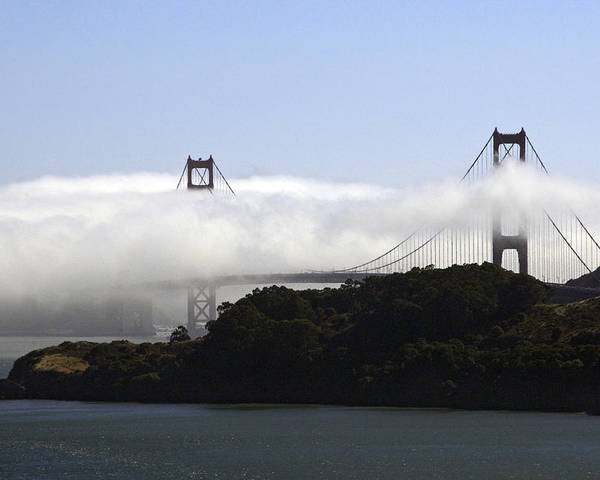 Bay Poster featuring the photograph Currents Of Fog Flowing Through The Golden Gate by Scott Lenhart