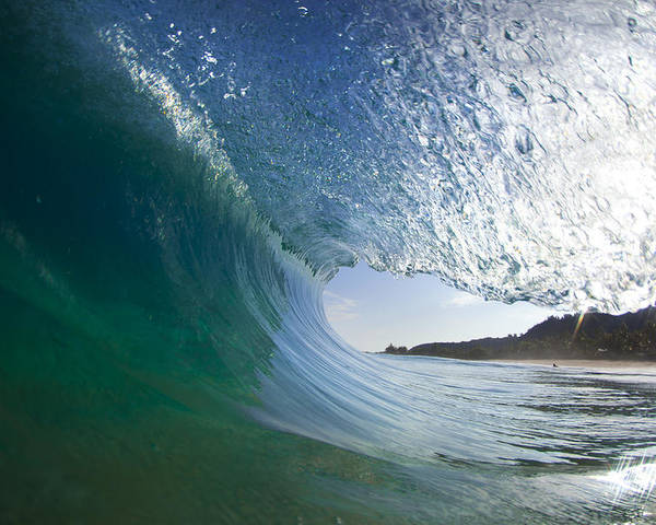 Wave Poster featuring the photograph Curtain Coming Down by Sean Davey
