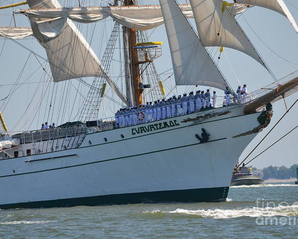 Tall Ship Poster featuring the photograph Cvavhtemoc by Brenda Dorman