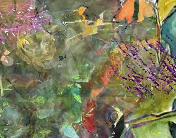 Poster featuring the digital art Cynthia's Garden 1 by David Briscoe
