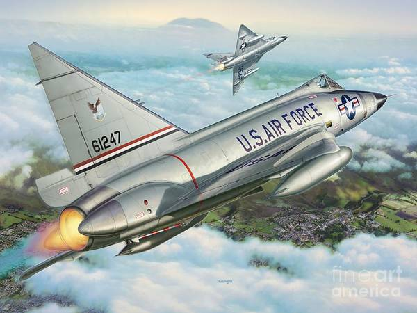 F-102 Poster featuring the digital art Daggers Of Defense by Stu Shepherd
