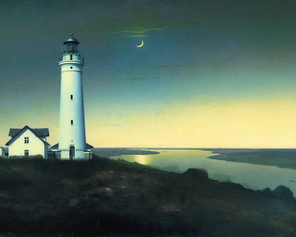 Light House Poster featuring the painting Daily Illuminations by Douglas MooreZart