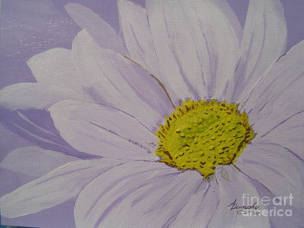 Daisy Poster featuring the painting Daisy by Anthony Dunphy