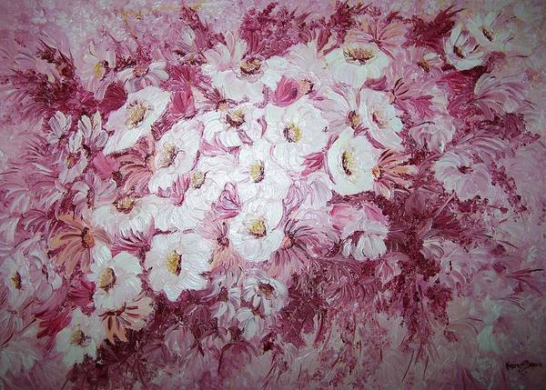Poster featuring the painting Daisy Blush by Karin Dawn Kelshall- Best