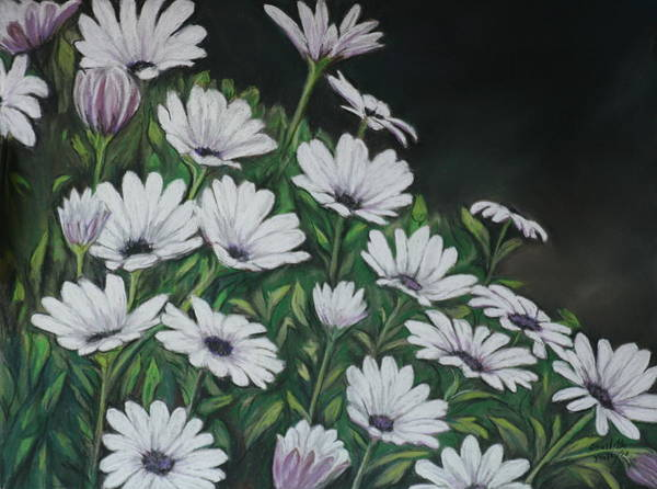 Flower Poster featuring the painting Daisy Mum by Charlotte Yealey