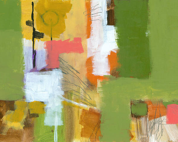 Abstract Poster featuring the painting Dakota Street 5 by Douglas Simonson