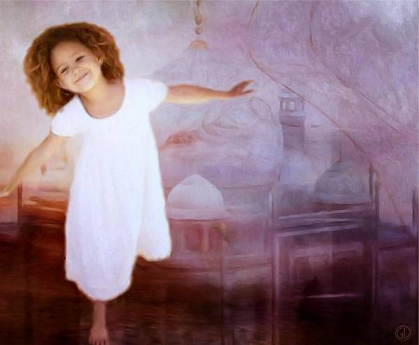Child Poster featuring the digital art Dancing In A Fairy Tale by Gun Legler