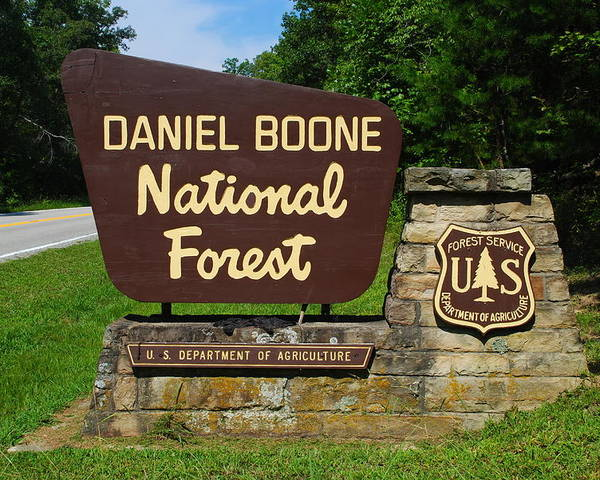 Daniel Boone Poster featuring the photograph Daniel Boone by Frozen in Time Fine Art Photography