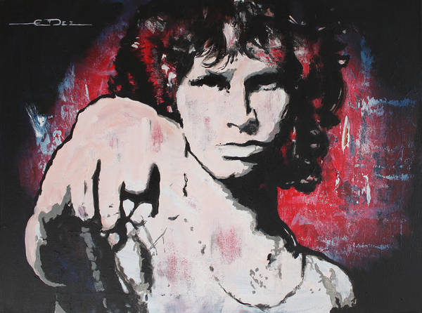 The Doors Poster featuring the painting Dark Poet by Eric Dee