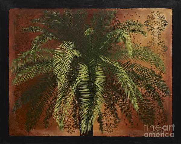 Palm Tree Art Poster featuring the painting Date Palm 2 by Daniel Paul Hoffman