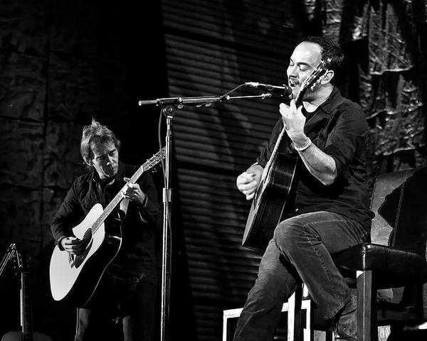 Dave Matthews Poster featuring the photograph Dave Matthews And Tim Reynolds by Jennifer Rondinelli Reilly - Fine Art Photography