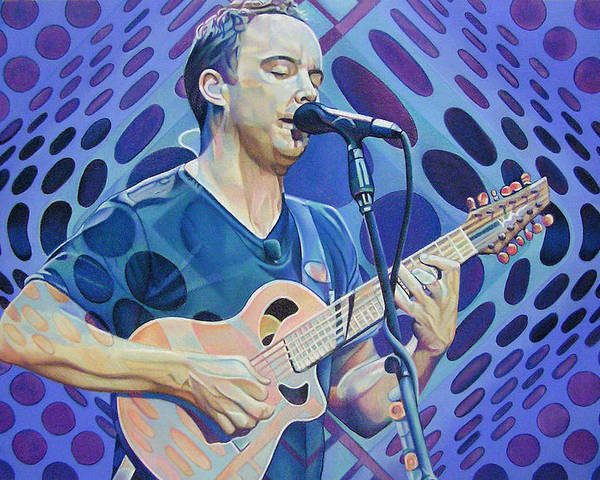 Dave Matthews Poster featuring the drawing Dave Matthews Pop-op Series by Joshua Morton