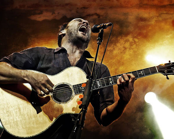 Dmb Poster featuring the photograph Dave Matthews Scream by Jennifer Rondinelli Reilly - Fine Art Photography