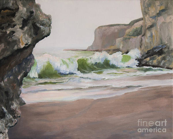 Beach Poster featuring the painting Davenport Cove 2 by Catherine Moore
