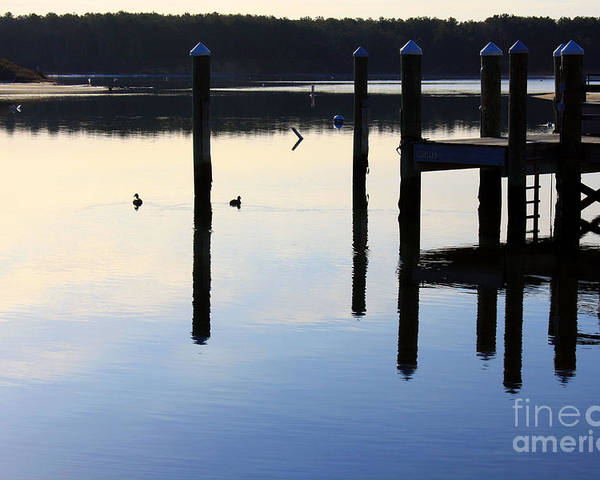 Dock Poster featuring the photograph Dawn by Crystal Morin