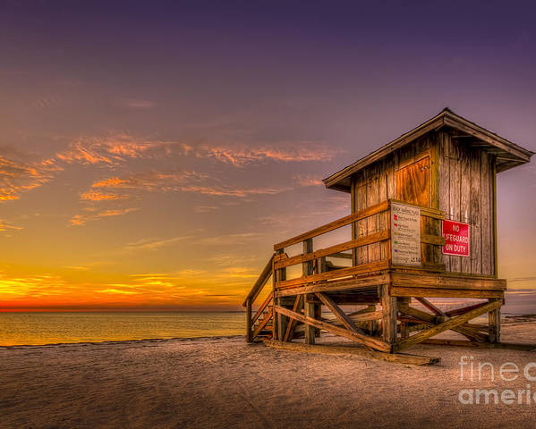Sunset Poster featuring the photograph Day Before Spring Break by Marvin Spates