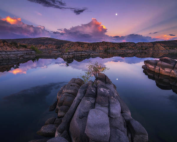 Watson Lake Poster featuring the photograph Days End by Peter Coskun