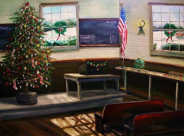 Oil Poster featuring the painting Days Til Christmas by John Williams