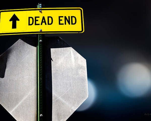 Sign Poster featuring the photograph Dead End by Bob Orsillo