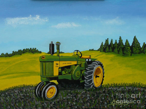 John Deere Poster featuring the painting Dear John by Anthony Dunphy