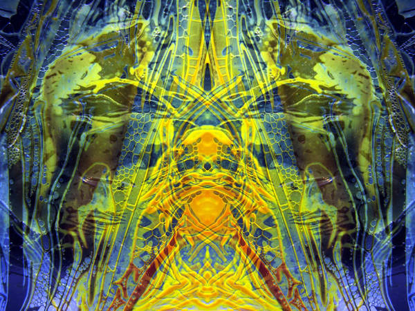 Surrealism Poster featuring the digital art Decalcomaniac Intersection 1 by Otto Rapp