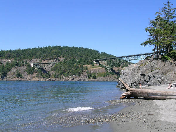 Deception Pass Bridge Poster featuring the photograph Deception Pass Bridge II by Mary Gaines