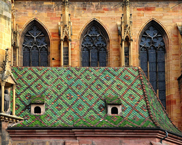 Roof Poster featuring the photograph Decorative Roof by Dave Mills