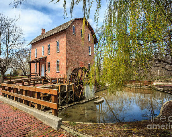 1800's Poster featuring the photograph Deep River County Park Grist Mill by Paul Velgos
