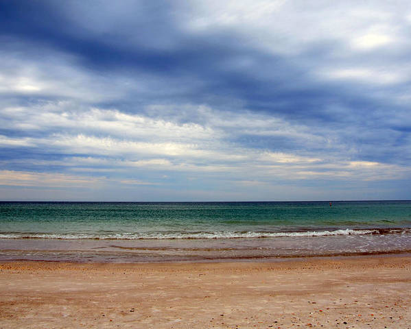 Beach Poster featuring the photograph Deep Sky by Amanda Vouglas