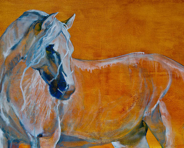 Horses Poster featuring the painting Del Sol by Jani Freimann