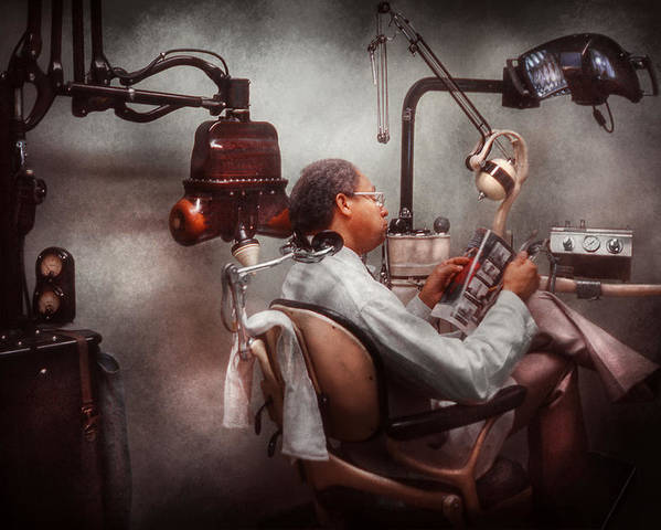 Doctor Poster featuring the photograph Dentist - Waiting For The Dentist by Mike Savad