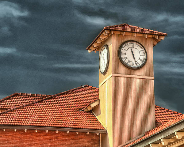 Time Poster featuring the photograph Depot Time by Brenda Bryant