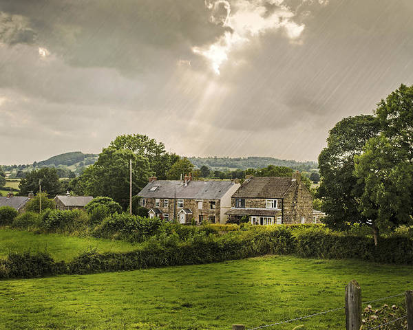 Cottage Poster featuring the photograph Derbyshire Cottages by Amanda Elwell