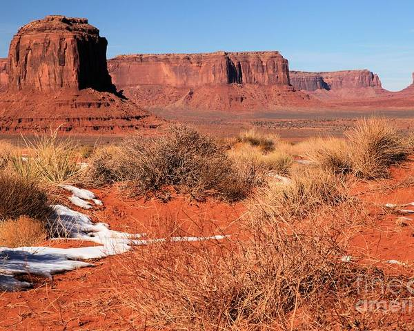 Monument Valley Poster featuring the photograph Desert Monuments by Adam Jewell