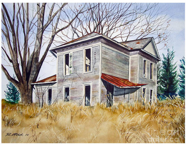 Old House Poster featuring the painting Deserted House by Rick Mock