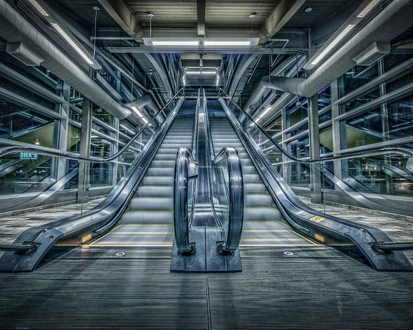 Escalator Poster featuring the photograph Destiny by Everet Regal