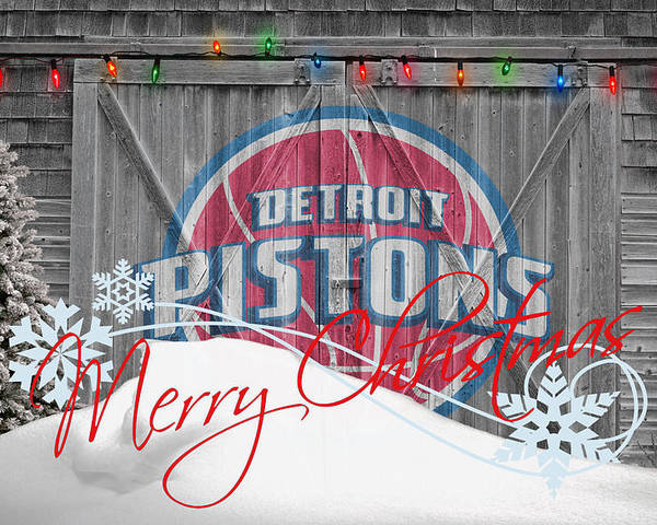 Pistons Poster featuring the photograph Detroit Pistons by Joe Hamilton