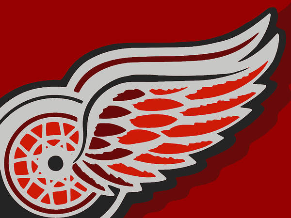 Detroit Poster featuring the painting Detroit Red Wings by Tony Rubino