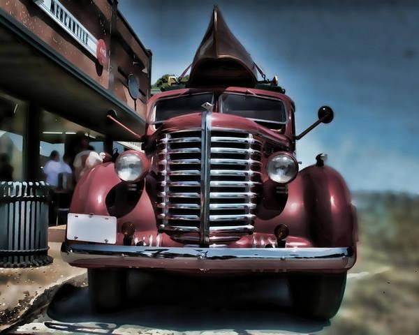Diamondt Poster featuring the photograph Diamond T Vintage Truck Art by Lesa Fine