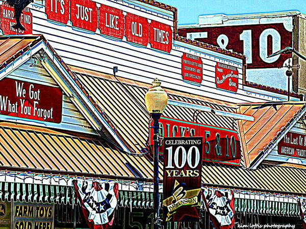 Branson Poster featuring the photograph Dicks Five And Dime by Kim Loftis