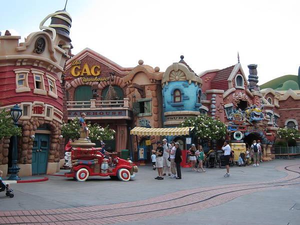 Amusement Poster featuring the photograph Disneyland Park Anaheim - 121232 by DC Photographer