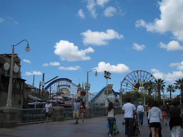 Amusement Poster featuring the photograph Disneyland Park Anaheim - 121235 by DC Photographer