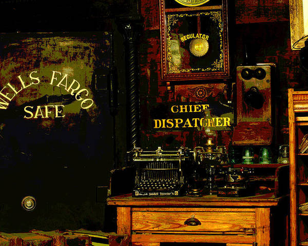 Ghost Town Museum Poster featuring the photograph Dispatcher's Office by Mike Flynn