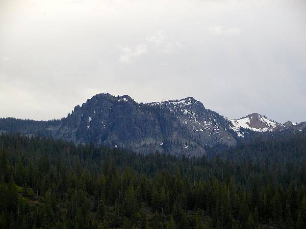 Mountains Poster featuring the photograph Distant Peak Of Stone by William McCoy