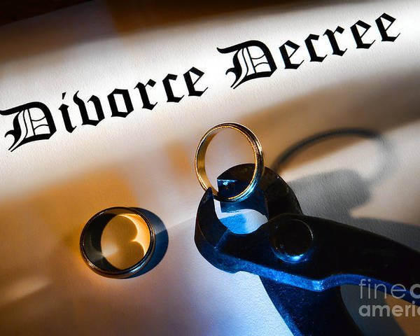 Divorce Poster featuring the photograph Divorce Decree by Olivier Le Queinec