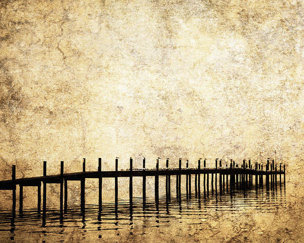Balance Poster featuring the photograph Dock 2 by Skip Nall